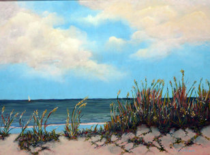 Dancing in the Wind - Florida coastal painting by Sandy Stevenson